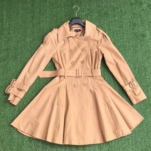 Bebe Flare Dress Trench Light Coat Size XS 😍